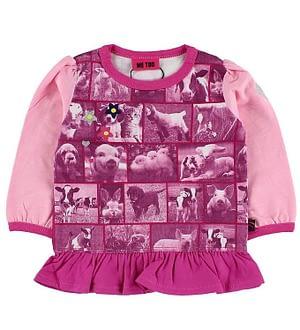 Me Too Bluse - Pink m. Dyrebilleder