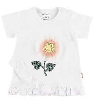 Hust and Claire T-shirt - Adora - Hvid m. Blomst