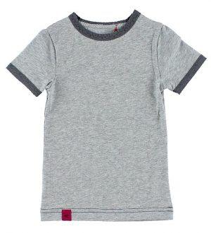 AlbaBaby T-shirt - Gråmeleret m. Hulmønster