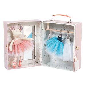 Moulin Roty ballerina mus i kuffert