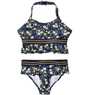 The New Bikini - UV50+ - Oliah - Black Iris m. Blomster/Guld