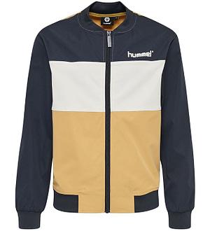 Hummel Teens Cardigan - HMLSilas - Navy/Hvid/Brun