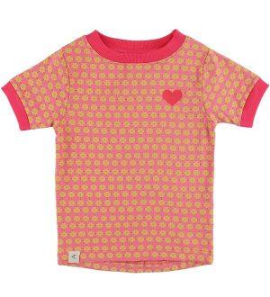 AlbaBaby T-shirt - Bella - Tea Rose Flower Hearts m. Hjerte