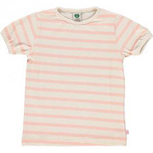 SMÅFOLK T-Shirt Med Striber Lyserød - Tøjstørrelser: 104