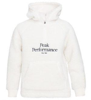 Peak Performance Hættetrøje - Reddyfleece - Hvid m. Logo