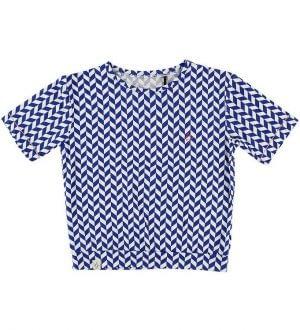 Atracktion by Alba T-shirt - Blå/Hvidmønstret