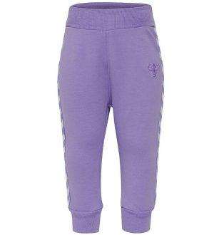 Hummel Sweatpants - Margret - Lavendel m. Vinkler