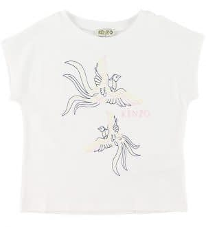 Kenzo T-shirt - Jordana - Hvid m. Fugle