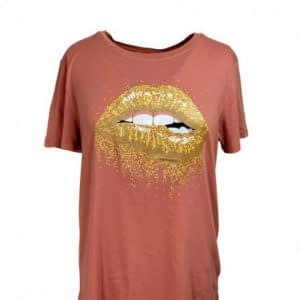 Dusty Rose T-shirt Lips S182226 fra Sofie Schnoor