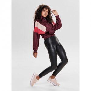 ONLY Coated Leggings Cool Black - Tøjstørrelser: L