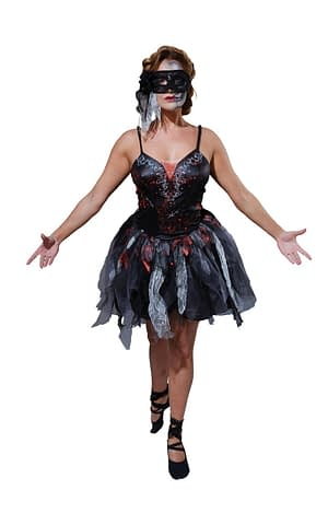 Voksen Død Ballerina Halloween Kjole(Str. 6 / XS)