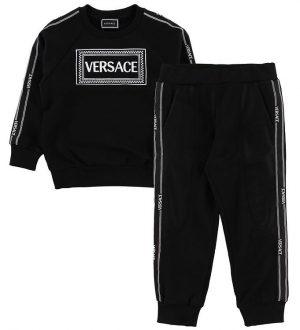 Versace Sweatsæt - Sort m. Logo
