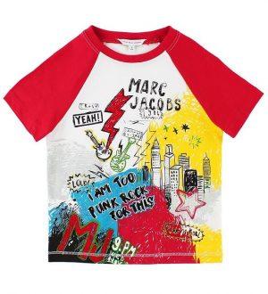 Little Marc Jacobs T-shirt - Hvid/Rød m. Print