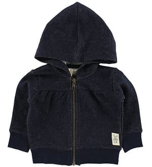 Small Rags Cardigan m. Hætte - Navy m. Glimmer