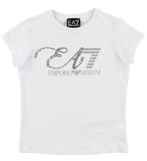 EA7 T-shirt - Hvid m. Pailletter