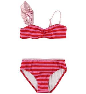 Little Marc Jacobs Bikini - Pink/Rødstribet m. Flæse