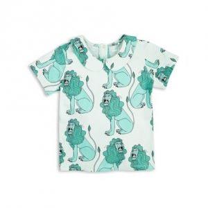 MINI RODINI Løve Print T-Shirt Med Krave - Tøjstørrelser: 104