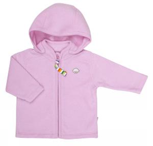 Cardigan i lyserød bomuld - Softy fleece fra danske JOHA