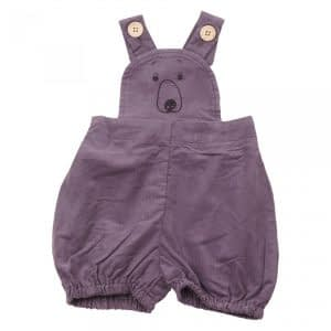 KRUTTER - Bear Shorts Overalls - Grey