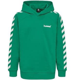 Hummel Teens Hættetrøje - HMLSolo - Grøn m. Vinkler