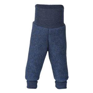 Uldfleece Bukser i Blue Melange - Engel