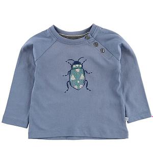 Noa Noa Miniature Bluse - Støvet Blå m. Bille