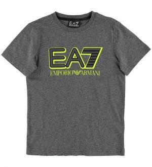 EA7 T-shirt - Mørk Gråmeleret m. Logo