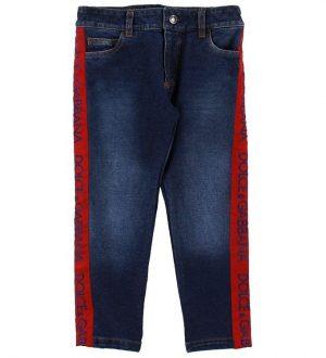 Dolce & Gabbana Jeans - Blå Denim m. Rød
