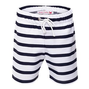 Petit Crabe Alex korte UV shorts - white/blue