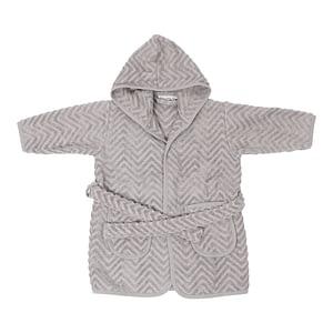 Badekåbe - Zigzag Grey (1-2 år)