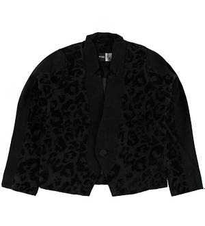 Molo Blazer - Hayly - Sort m. Leopardmønster