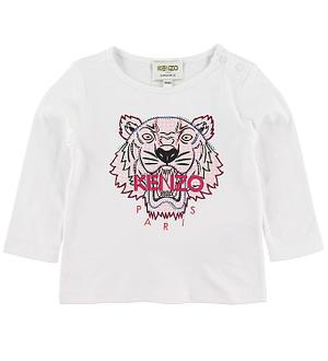 Kenzo Bluse - Tiger BG 5 - Hvid m. Print