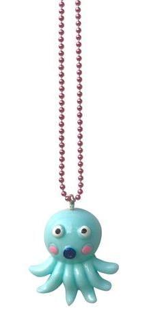 Pop Cutie kawaii halskæde blæksprutte blå