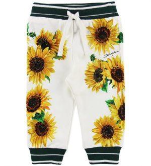 Dolce & Gabbana Sweatpants - Sunflower - Hvid/Mørkegrøn