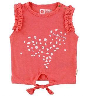 Tumble N Dry T-shirt - Pela - Koral m. Prikker