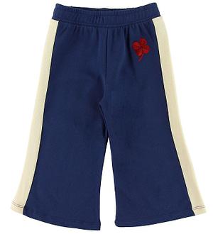 Mini Rodini Sweatpants - Sailor - Navy m. Firkløver