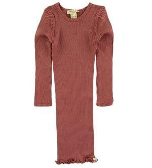Minimalisma Kjole - Bina - Silke/Bomuld - Antique Red