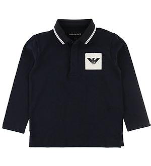 Emporio Armani Polo Bluse - Navy m. Logo