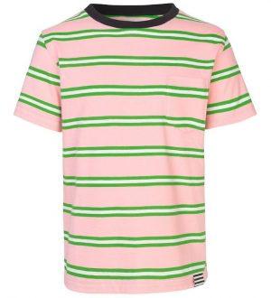 Mads Nørgaard T-shirt - Trolino - Lyserød/Grønstribet