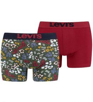 Levis Boxershorts - 2-pak - Grøn/Rød