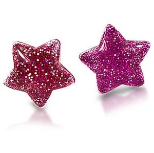 Milk x Soda clips øreringe stjerner - pink