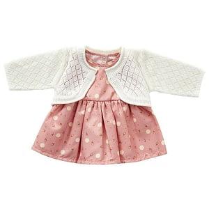 Kjole med cardigan 32-38 cm.