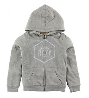 Roxy Cardigan m. Hætte - Memorize - Gråmeleret m. Logo