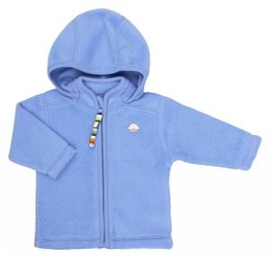 Blå cardigan i bomuld - Softy fleece fra danske JOHA