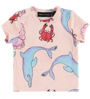 Mini Rodini T-shirt - Dolphin - Multifarvet m. Havdyr