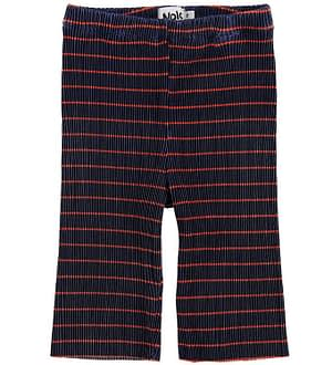 Molo Bukser - Aliecia - Navy Red Stripe