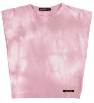 Finger In The Nose T-shirt - Haley - Pale Pink Tie & Dye
