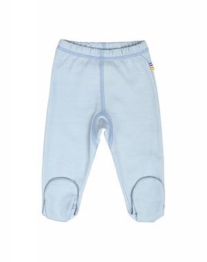 Baby lyseblå leggings med fod fra danske JOHA