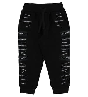 Dolce & Gabbana Sweatpants - Sort m. Patches