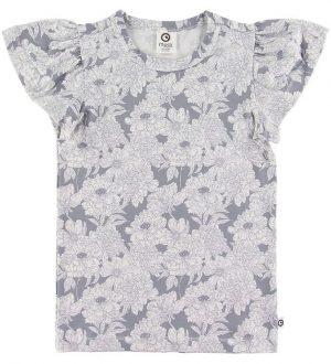 Müsli T-shirt - Blooming Butterfly - Grå m. Blomstermotiv